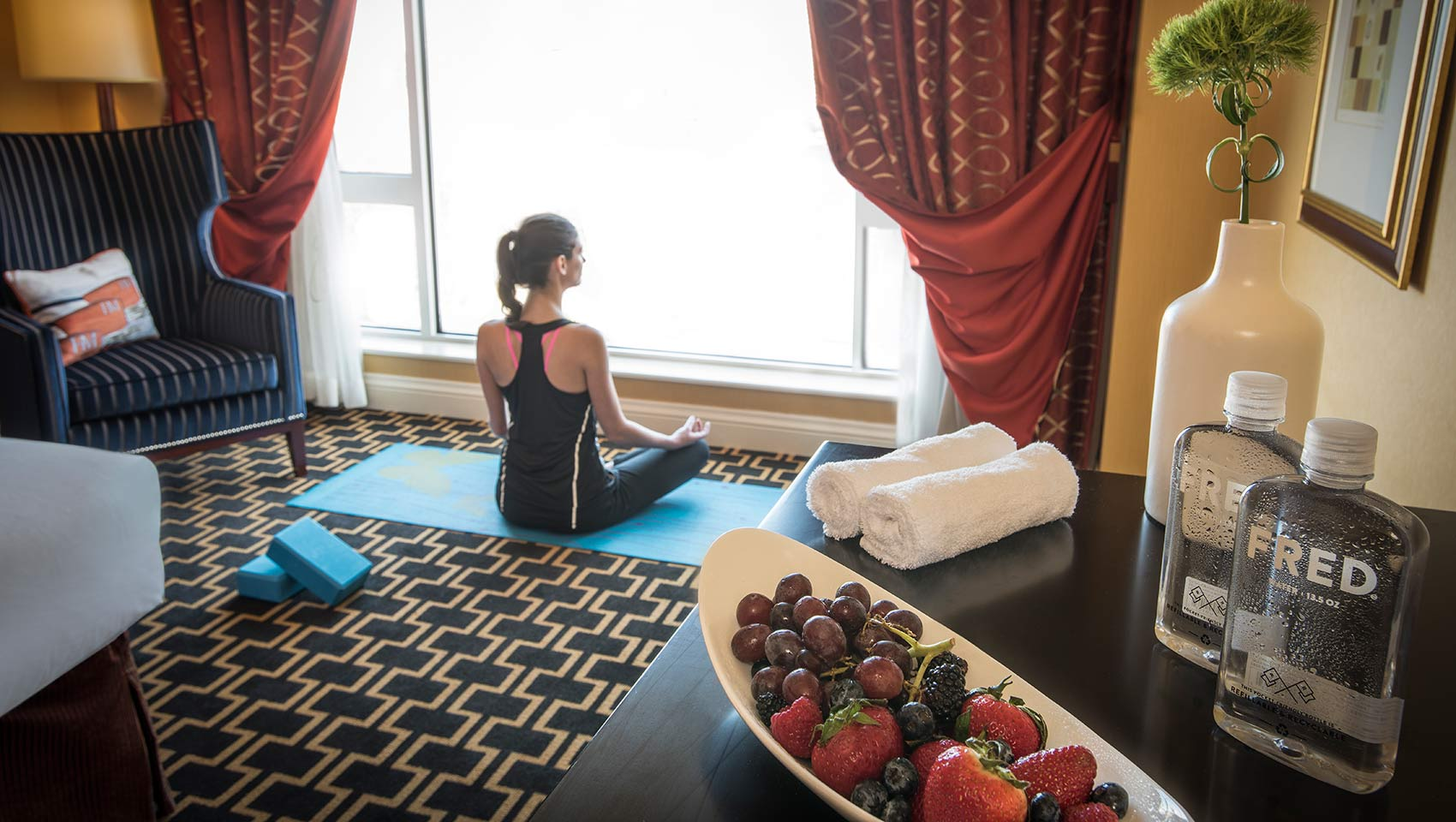 in room yoga