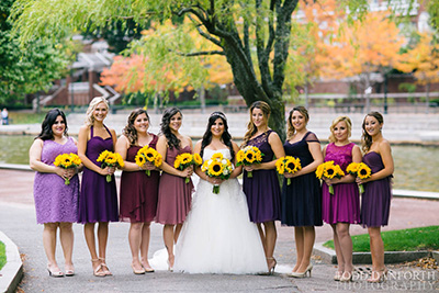 real wedding images at kimpton marlowe hotel