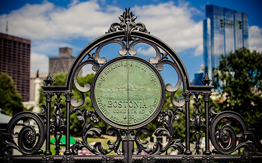 Boston Public Garden gate entrance